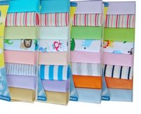 Wholesale infant washcloths - Infant toddler face towel baby washcloths mix color cotton polyester good handfeel 24 bags per lot