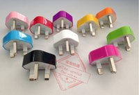 Wholesale Iphone 5s Uk Plug - UK Adapter UK GB Plug USB Wall Travel Charger for iPhone 5s 6s 7 plus for Samsung Galaxy AC Power Adapter