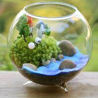 Wholesale Wholesale Hydroponic Supplies - DIY glass vase Succulents plant vase 4 inch transparent hydroponic vase wedding supplies Fish Tank Globe FreeDHL E416L