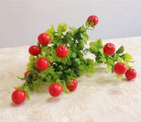 flower peppers 2018 - Plastic Fruit Bunch (13 Head Piece) Artificial Strawberry Apple Orange Pepper Mushroom Pomegranate Fruit for Xmas Showcase Decor