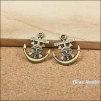 Wholesale Vintage Metal Findings - Vintage Charmsl Anchors alloy Pendant Antique bronze Metal Fits Bracelets Necklace DIY Jewelry accessories Finding 140pcs  lot22*19mm