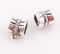 Wholesale Spacer Beads Antique Silver - NEW Arrival Antique Silver Bail beads Spacer Beads for Dangle Charms Fit European Bracelet JJAL BE338