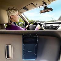 Wholesale Visor Clip Hands Free - Hot Sales Handsfree Bluetooth Car Kit Hands Free Bluetooth Speaker Phone Fixed On Sun Visor Clip +Car charger HA10712