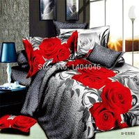 Wholesale Design Flower Bedding - Wholesale-bed linen set 3D oil printing bedding set FLOWER rose design bed clothes 3D wholesale comforter cover bed sheet set pillowcase