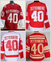 Wholesale Detroit Patch - 2016 Stadium Series Detroit Red Wings Hockey Jerseys 40 Henrik Zetterberg Jersey Home Red White Black Ice Camo Stitched C Patch