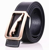 ingrosso jaguar marchi cinture fibbia-2017 Nuovo Marchio Jaguar Designer cinture Uomo Cintura per regalo Cintura in vera pelle Cinture per uomo