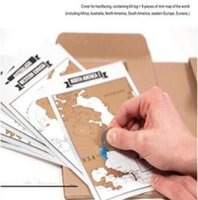Wholesale Paper Sales - Hot Sale Deluxe Travelogue Scratch Map Traveler Log Tourist Maps Notebook Best Travel Gift for Backpackers CCA8277 30pcs