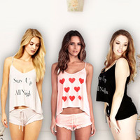 Wholesale Cute Sexy Pajamas For Women - Spring and Summer Style Womens Ladies Sleepwear Suits Pajamas Girl Printing Smiling Face Cute Sexy Homewear Nightwear For Women