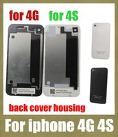 Wholesale Iphone Back Housing Lcd - full housing for iphone 4 g 4s back housing battery door cover replacement part work with front LCD display screen SNP001