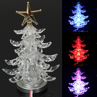 Wholesale Christmas Tree Star Top - New Stylish Best Price Top Star USB Powered Lighted LED Christmas Xmas Tree Desk Top Light Decoration Super Quality party decoration