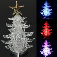 ingrosso le luci di natale del usb migliori-Nuovo elegante miglior prezzo Top Star USB Powered illuminato LED Natale Xmas Tree Desk Top Light Decoration Super decorazione del partito di qualità