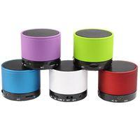 Wholesale Beatbox Portable Mini Bluetooth Speaker - S10 Metal Mini Portable BeatBox Hi-Fi Bluetooth Wireless Speaker TF Slot Handfree Mic Stereo Portable Speakers For Phone iPad DHL EMS Free