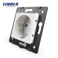 Wholesale Vl Wholesale - Livolo Socket DIY Parts, White Plastic Materials, EU standard, Function Key For EU Wall Socket, VL-C7-C1EU-11