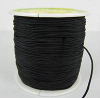 Wholesale Chinese Knots Nylon Rope - Black Factory Price 1.5mm nylonguyj 160M 175yards lot Chinese OP,E Knot String Nylon Cord Rope for Shamballa Bracelet jewelry