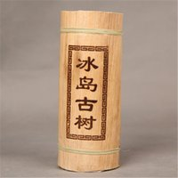 Wholesale C Pillars - C-PE146 Yunnan Puerh tea Dragon pillar bamboo tube raw tea Iceland old tree puer material Green food pu er tea 500g