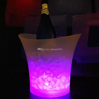 ingrosso appendiabiti per bicchieri di vino-2015 Nuovo Led che cambia colore secchiello per il ghiaccio, 5L bar locali notturni LED light up secchiello per il ghiaccio Champagne wine beer bucket bars