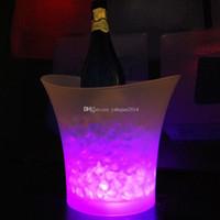 champanhe cubeta de gelo venda por atacado-2015 novo levou cor balde de gelo mudando, 5L bares nightclubs LED luz até balde de gelo Champagne vinho cerveja balde bares