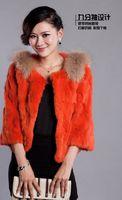 Wholesale Rex Rabbit Fur Vest - Wholesale-2015 rabbit fur outerwear rex outerwear vest medium-long short design rabbit fur coat fur coat