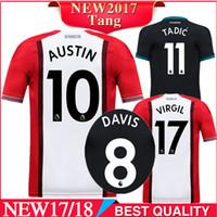 Soccer Men Short 2017 2018 Southampton Home LONG DAVIS RODRIGUEZ ROMEU  CAMISETA FUTBOL soccer jersey camisetas c3ff100a8