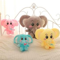 Wholesale 2015 New Arrival 30cm Lovers Elephant Plush Toy Funny Cartoon Animal Doll Hobbies Stuffed Valentines Birthday Gift TY247