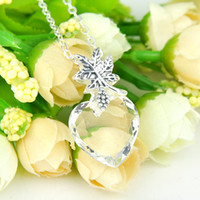 Wholesale Wholesale 925 Silver Mexico - Party Jewelry Luckyshine 5 Pieces 1Lot Fire Antiqure Heart Real White Topaz Crystal Gemstone 925 Silver Pendant Canada Mexico Jewelry Gift