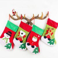 Wholesale Cycling Pendant - Christmas socks gift bags corduroy Christmas decorations beautiful Christmas tree pendant decorations supplies factory price top quality