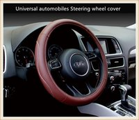 Wholesale new leather steering wheel cover - New car accessories Universal automobiles Steering wheel cover suitable for 38cm car styling