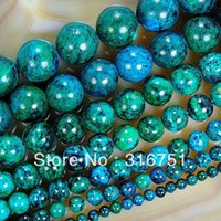 Wholesale Hot Sale Chrysocolla Stone Round Loose Spacer Beads quot mm mm mm mm mm Pick Size Aa