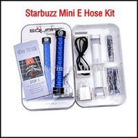 Single Black Metal Mini E hose Kits Starbuzz Mini Ehookah Ehose Mini e-hose Square Handled Hookah e shisha Portable Mini e cig E hookah kits Various Colors