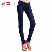 Wholesale Clear Deals - Wholesale-Super Deal 2015 korean Fashion Women Candy Colors Pencil Pants Sexy skinny Jeans denim Casual Trousers pantalones vaqueros mujer