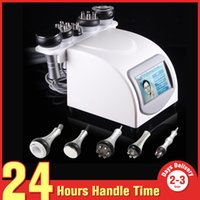 Wholesale Liposuction Cavitation - 5-1 Ultrasonic Liposuction 40k Cavitation Fat Burning Biopolar RF Face Care Vacuum Body Slimming Machine Spa