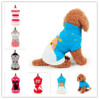 Wholesale doggie style - Winter Doggie Pattern Sweater Colorful Pet Dog Sweater Coats Casual Colored Sweater Kinds Of Styles CYF53