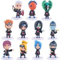 Wholesale Naruto Hidan - 11Pcs Set 8cm Naruto Akatsuki Uchiha Itachi Madara Sasuke Hidan Orochimaru Tobi Pein Deidara Dolls Action Figures Anime Toys