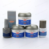 Wholesale Gel For Nail Tips - Wholesale-5pcs set 3 colors IBD Builder Gel 2oz   56g - Strong UV Gel for nail saloon art false tips +1pcs Primer Bonder+1pcs Intense Seal