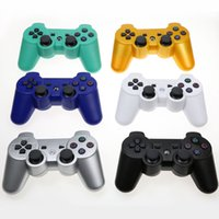 Wholesale Wireless Bluetooth Sixaxis - PS3 Wireless Bluetooth Game Controller 2.4GHz 7 Colors For SIXAXIS Playstation 3 Control Joystick Gamepad