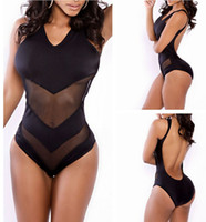 Wholesale New Fashion Suits For Women - 2017 New Fashion Backless Sexy Swimwear One Piece Swimsuit White,black Bathing Suit Swim Wear Swimming Suit For Women T#102