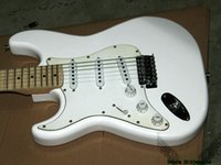 Wholesale left handed electric guitar oem resale online - Left Handed Guitars White Electric Guitar Maple Fingerboard New Arrival OEM Cheap
