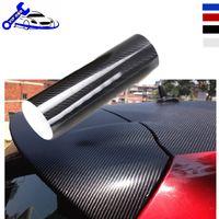 Wholesale 3d Carbon Fiber Gloss - Car-Styling Auto 152cmX50cm DIY Car Sticker Decal High Gloss 5D Carbon Fiber Vinyl Car Wrap Sheet Roll Film Tools car decorative stickers