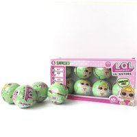 Wholesale Doll Boxes For Shipping - 7.5cm Lil Sisters Series 2 LOL surprise doll 8pcs lot LOL surprise doll Toy Gift for kids With Retail Box DHL shipping