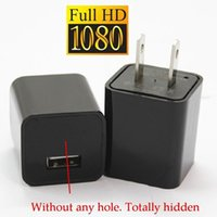 Wholesale Mini Hidden Camera Plugs - Mini 1080P 32GB HD SPY DVR Hidden Camera US EU AC Plug Adapter Video Recorder Cam