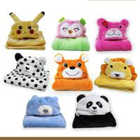 Wholesale Fleece Animal Throw - Animal Design Blanket Soft Comfortable Swaddle Infant Bedding Quilt Keep Warm Cloak For Winter New Arrival 15 2rf B R