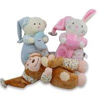 Wholesale Bear Musical - Wholesale- 26CM Musical Player Animal Soft Plush Dolls Stuffed Rabbit Bear Monkey Baby Toys Comfortable Appease Sleeping Stuffed Doll BF032