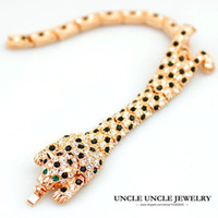 Wholesale Ring Spots - Beautiful!!! Rose Gold Color Austrian Crystal Studded Leopard Spotted Design Luxury Lady Bracelets Wholesale