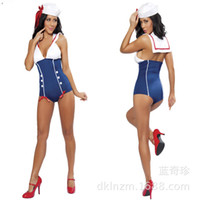Wholesale Sexual Games - Sailor Cosplay Jumpsuit Women Sexy Uniform Temptation Sex Role Play Lingeries Sexual Game Dress Adult Party Apparels Sex Toys