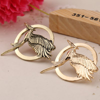 Wholesale Bird Wings - 2018 popular fashion trend of the new wing birds Hunger Games Catching Fire 2 Xinghuoliaoyuan metal commemorative badge ZJ-0903115
