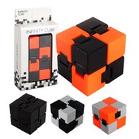 Wholesale Kids Toys Home - Fidget Infinity Cube fingertips Toy For Decompression Anxiety Toy Novelty and Gag Work Class or Home entertainment Multicolor choice Magic