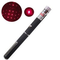 Wholesale Laser Pointer Red Kaleidoscope - 2in1 2 in 1 Star Cap Pattern 650nm 5mw Red Laser Pointer Pointers Pen with star head laser kaleidoscope light DHL FEDEX FREE SHIPPING