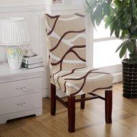 стул из сливы оптовых-Жаккард 1 шт слива стул охватывает дешевые жаккард стрейч стул охватывает украшения комнаты короткие половина машинная стирка V55C