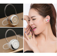 Wholesale Earphones Control Talk Headphones - Black Mini Wireless Bluetooth Earphone Q3 In-Ear V4.0 Stereo Headphone Voice Control Headset with Mic for All Phone Talk and Music