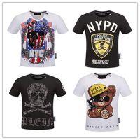 Wholesale Euro Style Women - 2017 Summer New Men's Tees Round Collar T-Shirt Short Sleeve Cotton fashion Euro size t shirt men&women brand clothing round dsq t-shirt